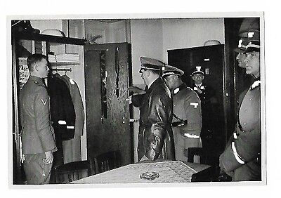 Propaganda card of Hitler inspection SS soldier room used ## combine shipping ##