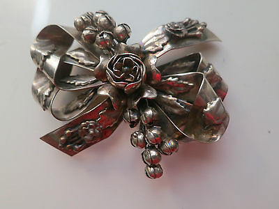 Hobe Sterling Silver Pin Antique