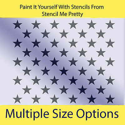 flag stencil 50 stars proud americana liberty old glory usa craft sign u paint cad. Black Bedroom Furniture Sets. Home Design Ideas