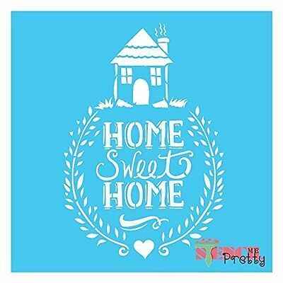 HOME SWEET HOME Stencil - Vintage DIY Wall Art Chic Family Sign Template