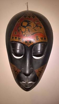 Hand Carved & Painted Wooden Mask. African