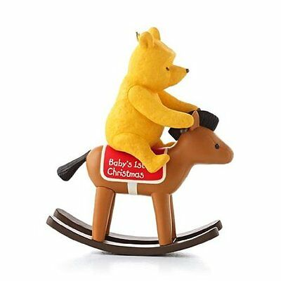 Baby's First Christmas 2013 Hallmark Winnie the Pooh Ornament Toy Rocking Horse
