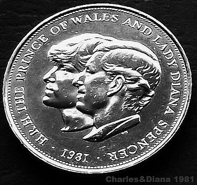 Coin- Silver Crown of Charles and Diana