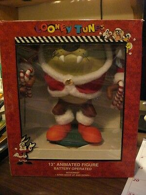 """Taz 13"""" Christmas Animated Figure, Looney Tunes, Battery Operated NEW"""
