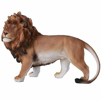 Wild African Lion Prideful King of The Jungle Savannah Lion Cat Animal Statue