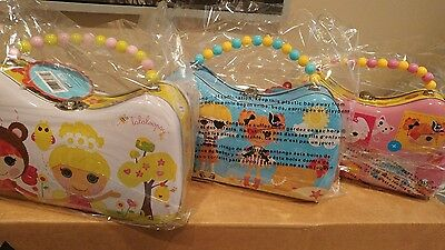 One New Lalaloopsy Metal Thin Purse Box with Beaded Handle