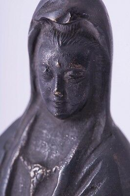 01 F/S Excellent Chinese Antique 1655〜70 Old Copper Kannon Statue 宣徳年 from Japan