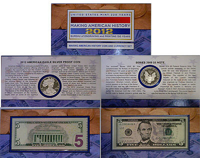 2012 Making American History Coin And Currency Set Original Mint Sealed