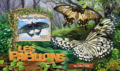Togo 2016 MNH Butterflies 1v S/S Papillons Insects Stamps