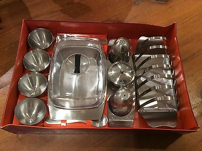 vintage retro Stainless Steel Breakfast Set - Collectable