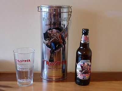 Iron Maiden Trooper Beer Gift Set Tin Limited Edition Glass Uk Exclusive