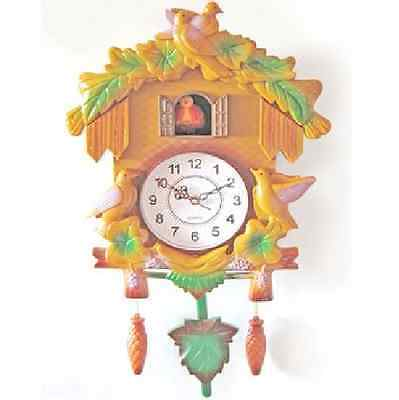 Children's Cuckoo Wall Mounted Clock in Chalet Design Plastic 41 cm