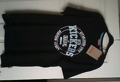 mens t shirt large Kickers logo on the front,navy Blue,size X-large