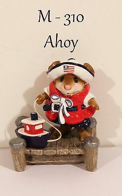 "Wee Forest Folk M-310 Ahoy ""Special Color"" RWB Initialed By ""WP"" With WFF Box"