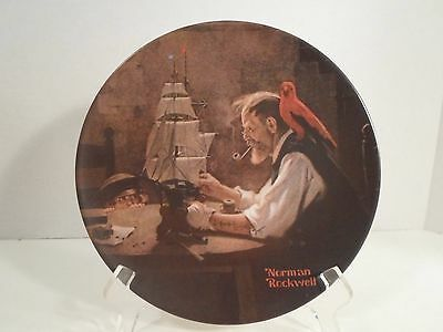 "Collector Plate - "" The Ship Builder"" - Norman Rockwell - Knowles"