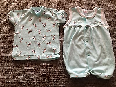 Peter Rabbit baby suit and top (Size 12 months).  New without tags