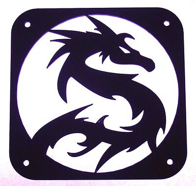 Fan Cover 120mm Dragon 3 Computer Grill Plastic Black Cooling PC modding PCmod