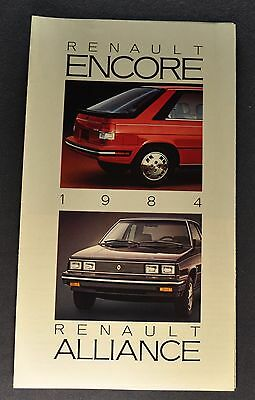 1984 Renault Brochure Folder Alliance Encore Excellent Original 84