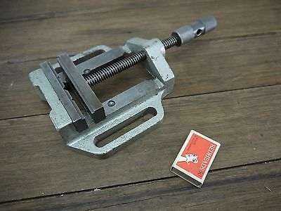 "Vintage 4"" Cast Iron Drill Press / Milling Machine Vice Opens 95mm"