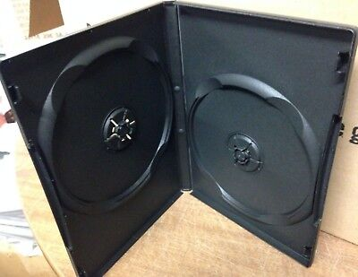 "1 Black Multi Two 2 Discs DVD Case, From New Media, Standard 1/2"" 14mm"