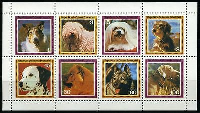 Equatorial Guinea 1970s sheet dogs MNG Sc unknown CV $2.00 170109031