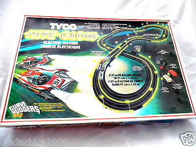 Vintage Tyco Nite Glow Electric Racing Course COMPLETE ***VERY RARE***
