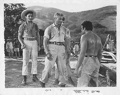 "6 Movie photos original 8""x10""East of Sumatra 1953 Jeff Chandler- Anthony Quinn"