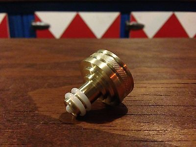 Custom metal spinning top. Solid brass. Ceramic. Precision machined.