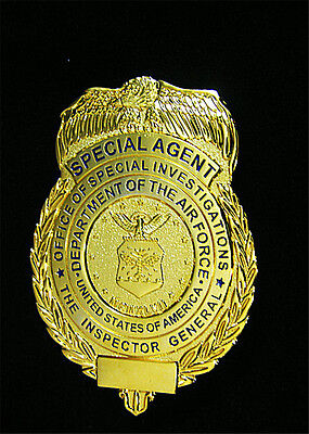 Obsolete United States Badge the Air Force Inspector Copper Insignia Collection