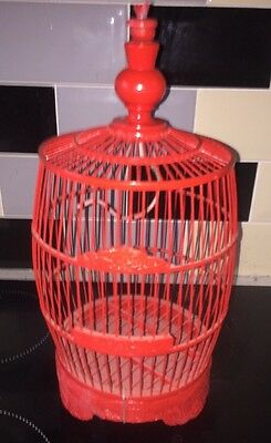 Chinese  Small Vintage Bamboo Bird Cage
