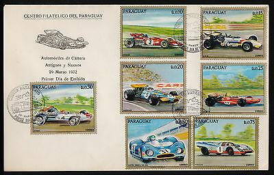 Cars-Cover-1972-Fdc-New & Old Racing Cars-
