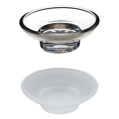 2x Glass Soap Dish Replacement Spare for Bathroom Accessory Universal Holder