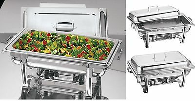 8.5 Litre Stainless Steel Chafing Dish With Lid  Party Cater Food Warmer Fuel