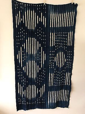 Gorgeous Boho Indigo African Mud Cloth Throw Blanket