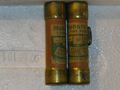 (LOT OF 2)Monarch 60A 250v one time fuse
