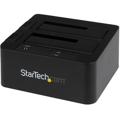 NEW Startech SDOCK2U33EB USB 3.0/eSATA to Dual 2.5/3.5in SATA Hard Drive Docking