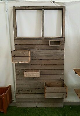 Garden Panel Screen Planter Box Feature  Recycled Timber