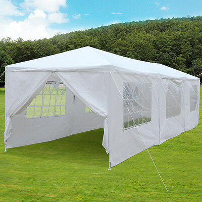 3m x 9m White Waterproof Outdoor Garden Gazebo Party Tent Marquee Canopy Used A