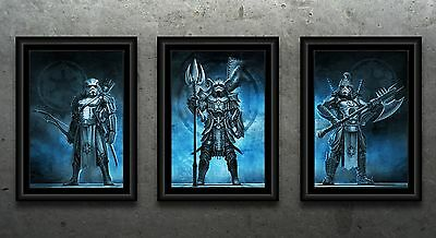 Star Wars Samurai Storm Trooper Tryptic Posters