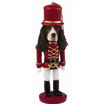 Springer Spaniel Dog Toy Soldier Nutcracker Christmas Ornament