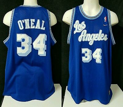 Shaquille Shaq O'Neal Los Angeles Lakers Jersey 3XL - Nike Throwback