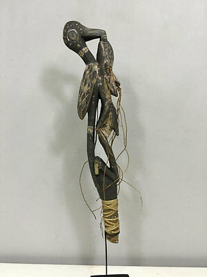 Papua New Guinea Bird Flute Effigy Head Stopper Sepik River