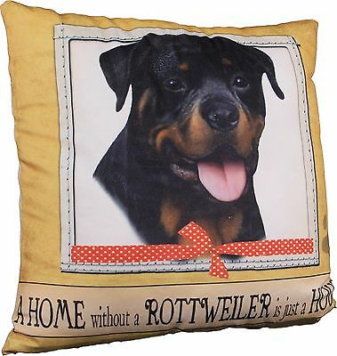 Rottweiler Soft Couch Dog Breed Throw Pillow