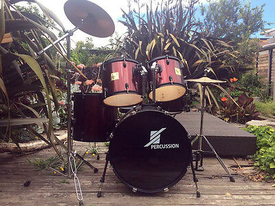 Percussion Drum Kit in very good condition with cymbals and drum throne.