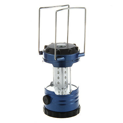 12 LED Portable Camping Camp Lantern Light Lamp with Compass-Blue H1
