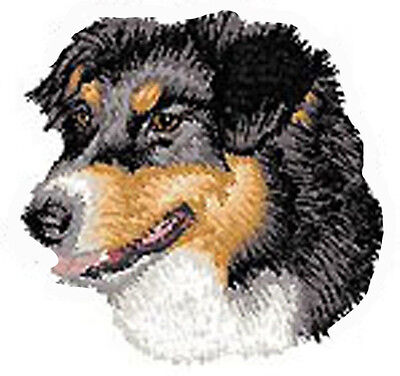 Australian Shepherd Portrait tri  Embroidery Patch Auction bb