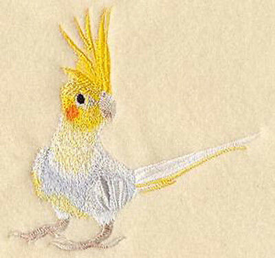 Pied Cockatiel  embroidery patch