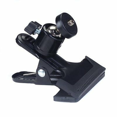 Metal Photo Studio Flash Spring Clamp Clip Mount With Ball Head--Black H1