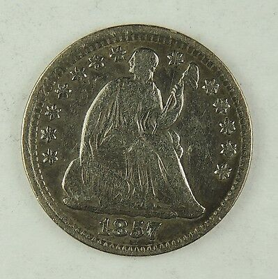 1857-P H10C Liberty Seated Silver Half Dime Fine Details Lightly Cleaned(170120)