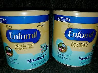 Enfamil Newborn Baby Infant Formula 12.5oz cans lot of two. Brand New sealed.